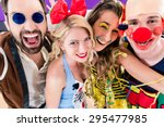 party people celebrating... | Shutterstock . vector #295477985