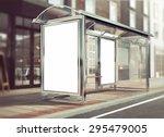 3d rendering of bus stop mockup | Shutterstock . vector #295479005