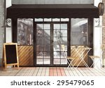 3d rendering of restaurant... | Shutterstock . vector #295479065