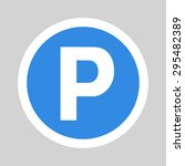 car parking flat icon sign... | Shutterstock . vector #295482389