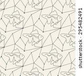 seamless fish pattern tile... | Shutterstock . vector #295482491
