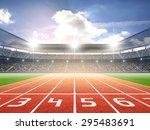 athletics stadium | Shutterstock . vector #295483691