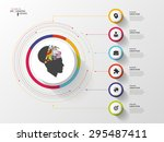 infographic. creative head.... | Shutterstock .eps vector #295487411