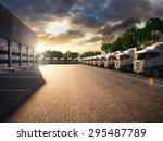 truck parking. freight | Shutterstock . vector #295487789