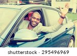 portrait happy young man driver ... | Shutterstock . vector #295496969