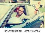 portrait happy young man driver ... | Shutterstock . vector #295496969