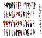 isolated groups people... | Shutterstock . vector #295497725