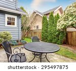 small furnished back yard with... | Shutterstock . vector #295497875
