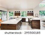 Постер, плакат: Kitchen with Island Sink
