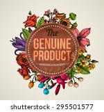 vintage vector card with... | Shutterstock .eps vector #295501577