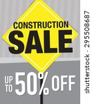 construction sale sign up to 50 ... | Shutterstock .eps vector #295508687