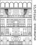 house luxury interior... | Shutterstock . vector #295516721