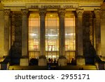 portal of berlin reichstag - stock photo