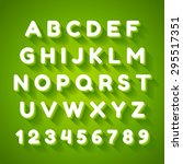 3d alphabet font with flat long ...