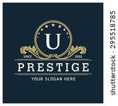 u letter logo  monogram design...   Shutterstock .eps vector #295518785