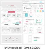 flat ui kit template for... | Shutterstock .eps vector #295526207