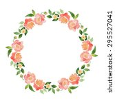 watercolor floral elements.... | Shutterstock .eps vector #295527041