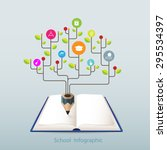 open book infographics banner... | Shutterstock .eps vector #295534397