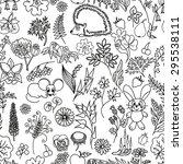 seamless hand drawn vector... | Shutterstock .eps vector #295538111