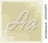 ornamental luxury calligraphic... | Shutterstock .eps vector #295542095