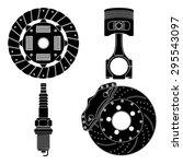 brake disc  clutch disc  ... | Shutterstock .eps vector #295543097