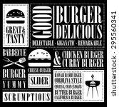 vintage burger menu  | Shutterstock .eps vector #295560341
