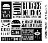 vintage burger menu  | Shutterstock .eps vector #295560371