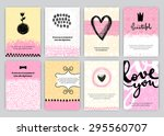 hand drawn vintage posters set. ... | Shutterstock .eps vector #295560707