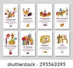 creative business cards and...   Shutterstock .eps vector #295563395