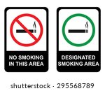 no smoking and smoking area | Shutterstock .eps vector #295568789