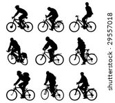 silhouette bicycles. vector  ... | Shutterstock .eps vector #29557018