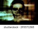 ghost face scary background for ... | Shutterstock . vector #295571585