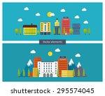 flat design modern vector... | Shutterstock .eps vector #295574045