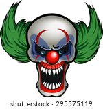 evil clown | Shutterstock .eps vector #295575119