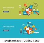 set of flat design vector... | Shutterstock .eps vector #295577159