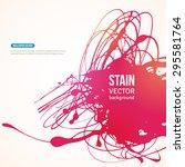 splatter paint banner. vector...   Shutterstock .eps vector #295581764