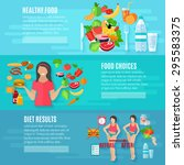 healthy food choice weight loss ... | Shutterstock .eps vector #295583375