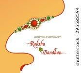 elegant greeting card design... | Shutterstock .eps vector #295583594