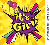 "pop art comics icon ""its a girl ... 