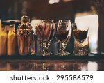 classic bar counter with... | Shutterstock . vector #295586579