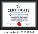 horizontal certificate template ... | Shutterstock .eps vector #295592441