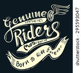 genuine riders typographic for... | Shutterstock .eps vector #295593047