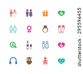 couple  love icons universal... | Shutterstock .eps vector #295596455