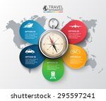 vector travel infographic with... | Shutterstock .eps vector #295597241
