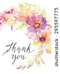 watercolor greeting card... | Shutterstock .eps vector #295597775