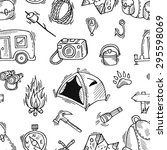 seamless pattern of camping... | Shutterstock .eps vector #295598069