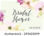 decorative card. watercolor... | Shutterstock .eps vector #295603049
