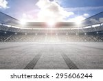 tire track stadium | Shutterstock . vector #295606244