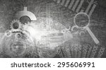 background image with business... | Shutterstock . vector #295606991