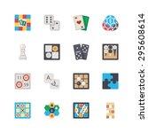 vector flat board games set....   Shutterstock .eps vector #295608614
